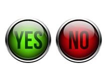 Yes, No button Royalty Free Stock Photos