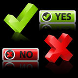 yes and no button Stock Photos