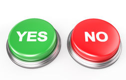 Yes No Button Royalty Free Stock Photo