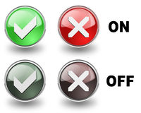 Yes or No  buttons Royalty Free Stock Photography