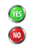 Yes/No buttons Royalty Free Stock Photography