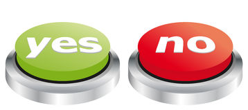 Yes and no buttons. Illustration of yes and no buttons Stock Image
