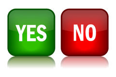 Yes no buttons Stock Photos