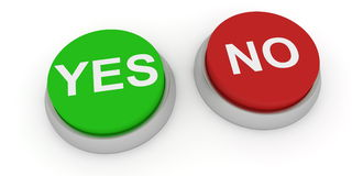 Yes and no buttons Royalty Free Stock Images