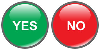 Yes No Buttons Stock Image
