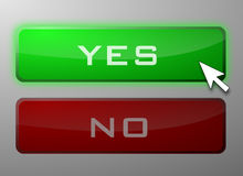 Yes and No buttons Royalty Free Stock Photos
