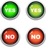 Yes / No Buttons Stock Photo