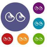 Yes and no buttons icons set Stock Images