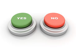 Yes No Buttons Royalty Free Stock Images