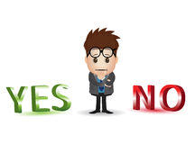 Yes no character Stock Image
