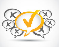 YES or NO Check Mark Stock Photo