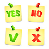 Yes and No Check marks Royalty Free Stock Photos