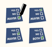 YES and NO checklist with marker Royalty Free Stock Photos