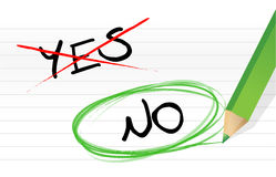 Yes and no choice Royalty Free Stock Image