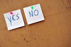 Yes or no choice Stock Image