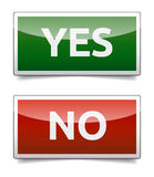 YES - NO color board Stock Image
