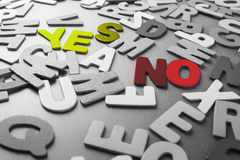 Yes and No Royalty Free Stock Photos