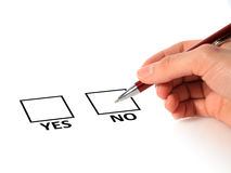 Yes-no concept. Stock Photography