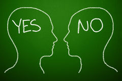 Yes No Concept. On the blackboard Stock Images