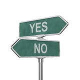 Yes and No concept Stock Images