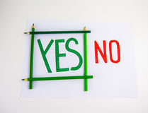 Yes and No concept Stock Photography