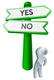 Yes or No concept Stock Image