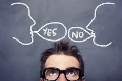 Yes No Concept stock photography