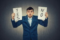 Yes or no royalty free stock images