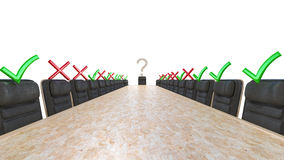 Yes and no. Corporate Meeting Stock Image