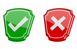 Yes or no 3d  icons Stock Images