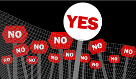 Yes and no decision symbol written on placard Royalty Free Stock Images