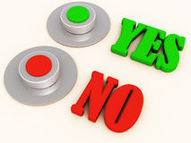 Yes no decision voting Stock Photo