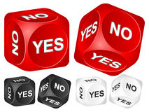 Yes no dice Stock Images