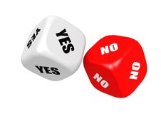 Yes no dices Royalty Free Stock Images
