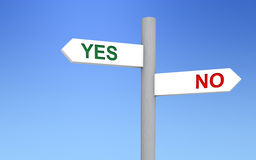 Yes and No Directions. Signal pointing to yes and no directions. Image concept vector illustration