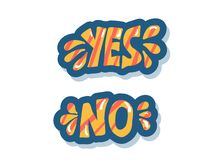 Yes and no hand lettering. Vector illustration. vector illustration
