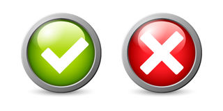Yes, No  icon. Royalty Free Stock Image