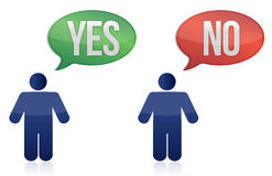 Yes and no icon Royalty Free Stock Images