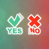 Yes and No icon. Stock Photography