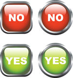Yes / No Icons Royalty Free Stock Photography