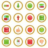 Yes no icons circle Stock Photo
