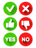 Yes and No Icons Royalty Free Stock Image