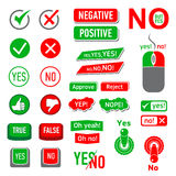Yes No icons set, simple style Stock Images