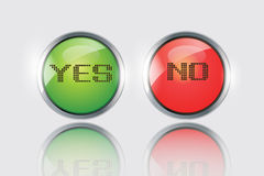 Yes or No icons vector. Yes or No button icons vector on white back ground royalty free illustration