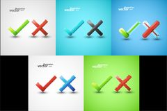 Yes or No icons Royalty Free Stock Images