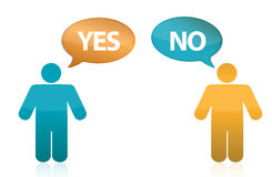Yes or no illustration Stock Image