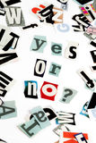 Yes or no inscription Stock Images