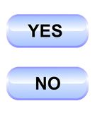 Yes-no knappar Arkivfoto