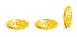 Yes - no - maybe / Accept the decision / vector Stock Image