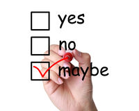 Yes, No, or Maybe. Concepts of making business decision Stock Images